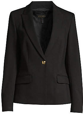 Escada Women's Brikenani Jersey One Button Blazer