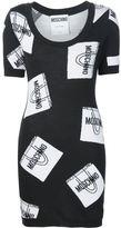 Moschino shopping bag intarsia sweater dress