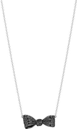 Black Diamond Mimi So Pave Bow Pendant Necklace