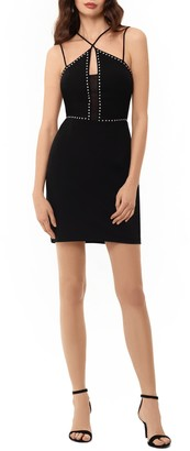 Xscape Evenings Cross Front Studded Body-Con Dress