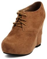 Charlotte Russe Lace-Up Platform Wedge Booties