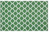 Pottery Barn Becca Tile Reversible Indoor/Outdoor Rug - Green