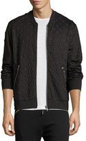 Diesel Star-Embossed Bomber Jacket, Black