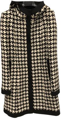 DKNY Multicolour Wool Coat for Women