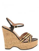 L'Autre Chose Cork Wedge Sandals