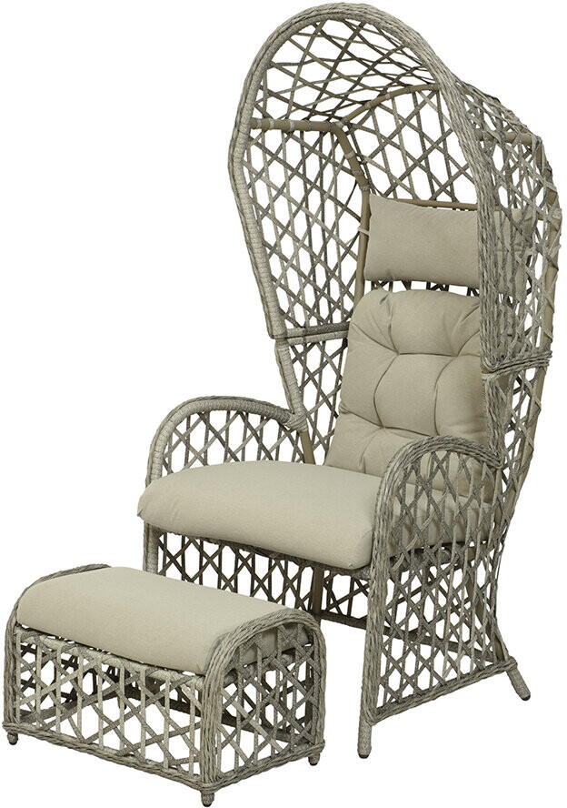 Thumbnail for your product : AMARA Outdoors - Outdoor Wicker Lounge Chair Set - Grey