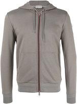 Moncler logo hooded cardigan - men - Cotton - M