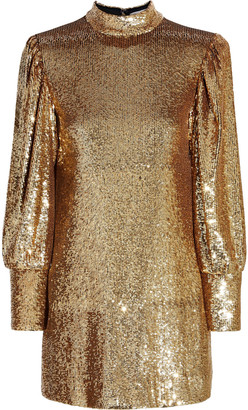 A.L.C. Christy Sequined Tulle Mini Dress