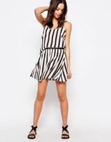JDY J.D.Y Stripe Print Short Skirt