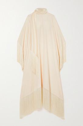 Taller Marmo Mrs Ross Fringed Crepe Kaftan - Ivory