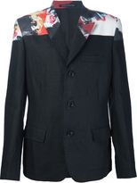 Yohji Yamamoto printed shoulder blazer