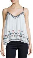Love Sam Savannah Embellished A-Line Top, White Pattern