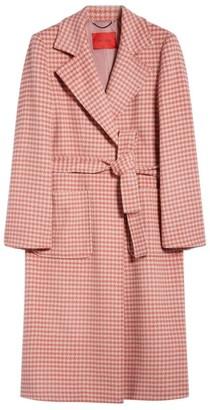 Max & Co. Wool Gingham Runaway Coat