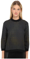 M Missoni Large Pique Knit Long Sleeve Top