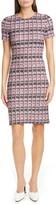 St. John Monarch Textured Tweed Knit Sheath Dress