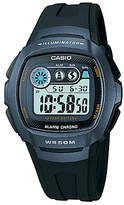 Casio Unisex Core W-210 Resin Strap Watch, Black