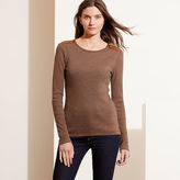 Ralph Lauren Zip-Shoulder Cotton Top