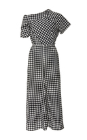 Rachel Comey Off-The-Shoulder Gingham Midi Dress