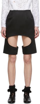Comme des Garcons Black Satin Miniskirt