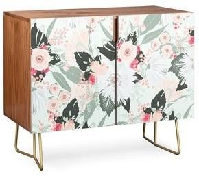 Deny Designs Floral Creme Credenza