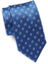 Saint Laurent Floral Pattern Silk Tie