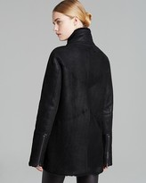 Helmut Lang Coat - Wrecked Shearling Double Collar