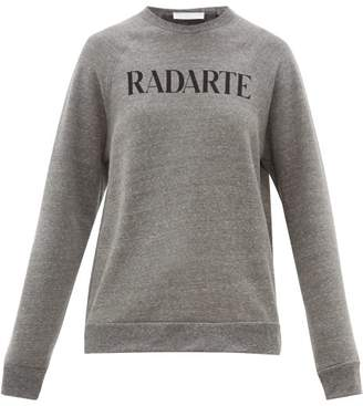 Rodarte Radarte-print Fleece-back Jersey Sweatshirt - Womens - Grey