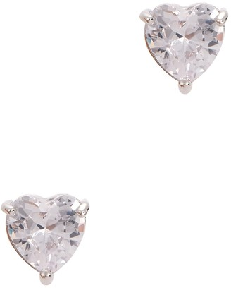 Fallon Solitaire heart crystal-embellished earrings