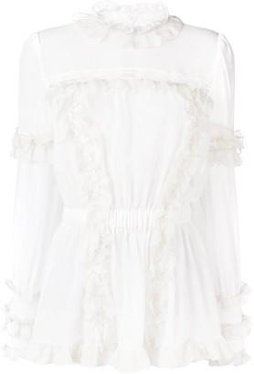 Dolce & Gabbana Ruffled Lace Blouse