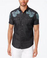 INC International Concepts Men's Embroidered Denim Shirt, Created for Macy's