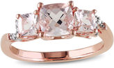 JCPenney FINE JEWELRY Genuine Morganite and Diamond-Accent 3-Stone Ring