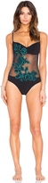 Sauvage Fleur Applique Mesh One Piece