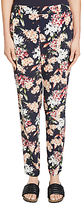Oui Floral Print Trousers, Multi