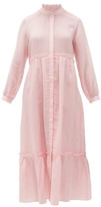 Sea Lucy Ruffled Cotton-poplin Midi Dress - Womens - Pink