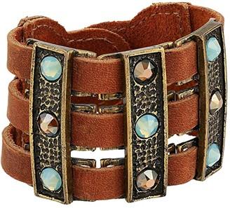 Leather Rock Jackie Bracelet