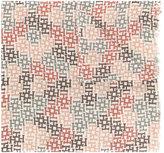 Hemisphere H pattern frayed scarf