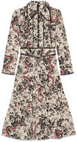 Gucci Herbarium Snake silk dress