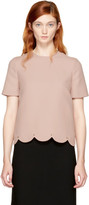 Valentino Pink Scalloped Rockstud Blouse