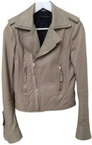Balenciaga Beige Leather Jacket for Women