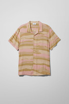 Weekday Coffe Dye Stripe Shirt - Beige