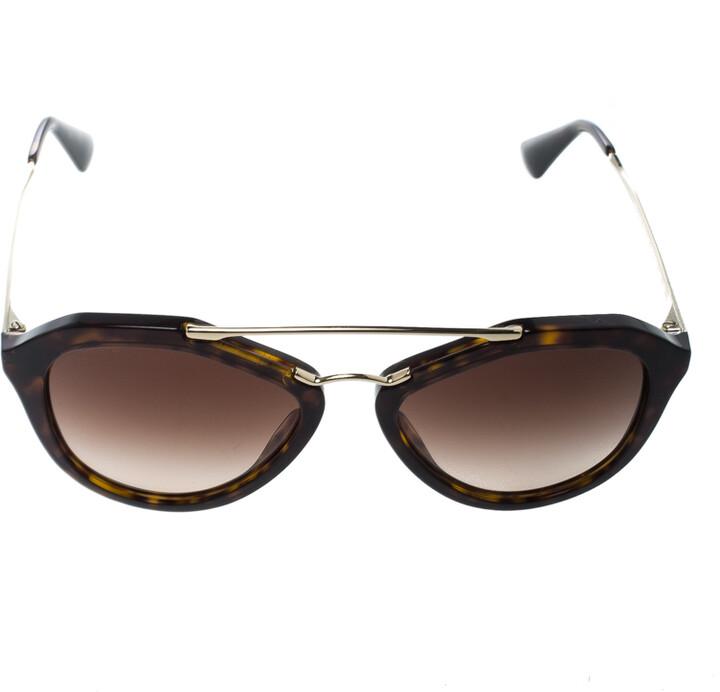 Thumbnail for your product : Prada Brown Tortoise/Brown Gradient SPR12Q Cat Eye Sunglasses