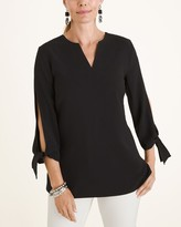 Modernist Collection Tie-Sleeve Top