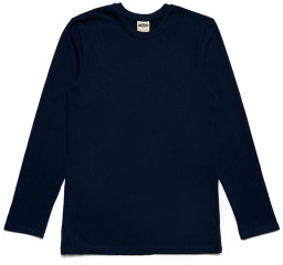 M Blue Arnold & Co - Navy Ls Forge Denim Heavy Tee - M - Blue