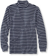 L.L. Bean Interlock Mock-Turtleneck, Traditional Fit Stripe