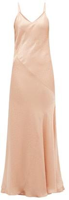 Mes Demoiselles Sequence Polka Dot-jacquard Satin Slip Dress - Womens - Light Pink