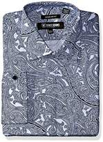 Stacy Adams Men's Big and Tall Paisley Classic Fit Dress Shirt