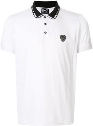 EA7 Emporio Armani Back Logo Colour Block Polo Shirt