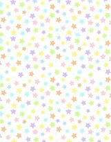 Camilla And Marc SheetWorld Fitted Bassinet Sheet - Pastel Colorful Stars Woven - Made In USA - 15 inches x 32 1/2 inches (38.1 cm x 82.6 cm)