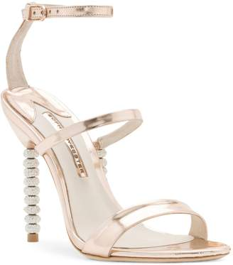 Sophia Webster Rosalind Leather Crystal-Embellished Ankle-Strap Sandals