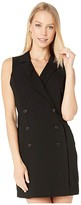 BCBGeneration Button Front Tuxedo Dress GEF6229545 (Black) Women's Dress